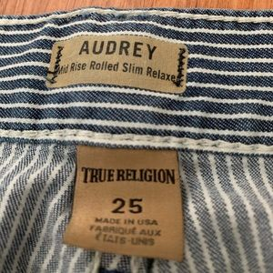 True religion Audrey Carpenter slim stripe jeans
